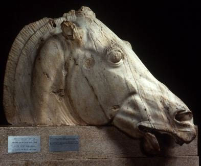 Parthenon, East pediment: Figure O (horse from the two-wheeled chariot of Selene/Nyx)